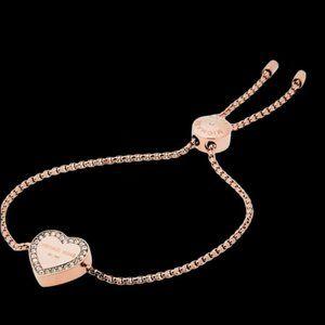 MICHAEL KORS Rose Gold Heart Slide Bracelet
